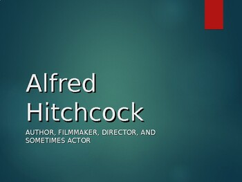 Alfred Hitchcock Biography PowerPoint
