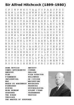Alfred Hitchcock Handout
