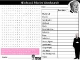 Alfred Hitchcock Movies Wordsearch Sheet Starter Activity Keywords Cover