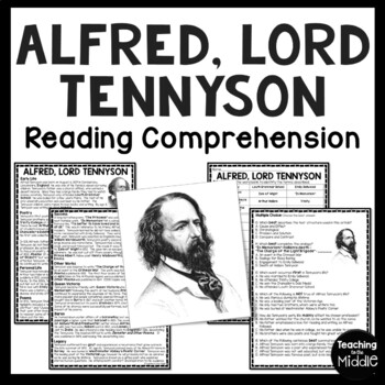 Alfred Tennyson Biography Reading Comprehension Worksheet; Poetry, Victorian Age