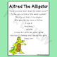 Alfred The Alligator ~ Printable Lyrics for Music, Reading