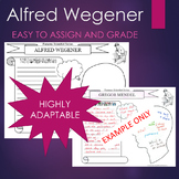 Alfred Wegener Biography Graphic Organizer Interactive Journal