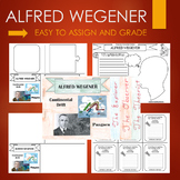 Alfred Wegener Biography Graphic Organizer Journal Template Research BUNDLE