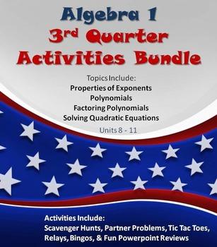 Alg 1 -- 3rd Quarter Fun Reviews Bundle