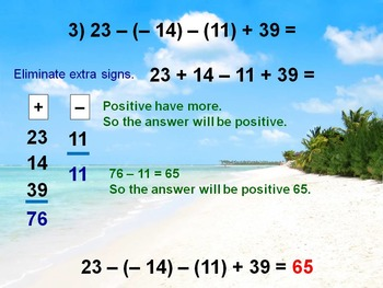 Alg 1 -- Adding & Subtracting Integers