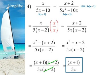 Alg 1 -- Adding & Subtracting Rational Expressions - Day 2