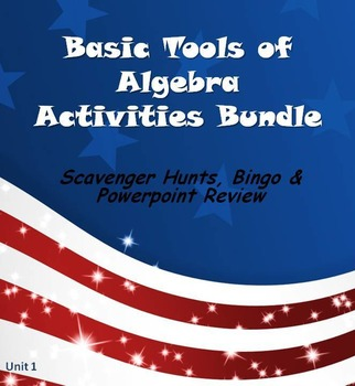 Alg 1 -- Algebra Basics Fun Reviews & Activities Bundle