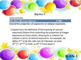 Alg 1 -- CA Common Core Standards Posters for Algebra 1