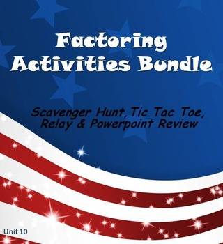 Alg 1 -- Factoring Fun Reviews & Activities Bundle