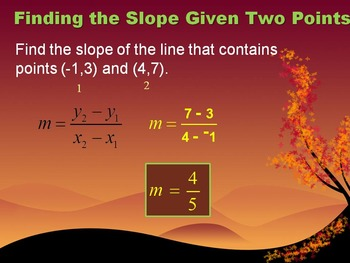 Alg 1 -- Finding the Slope of a Line