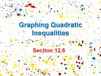 Alg 1 -- Graphing Quadratic Inequalities
