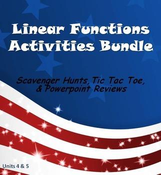 Alg 1 -- Linear Functions Fun Reviews & Activities Bundle