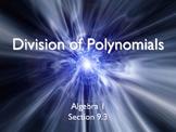 Alg 1 -- Long Division of Polynomials