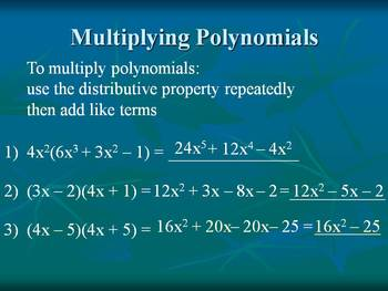 Alg 1 -- Multiplication of Polynomials