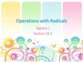 Alg 1 -- Operations with Radicals