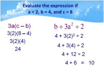 Alg 1 -- Order of Operations