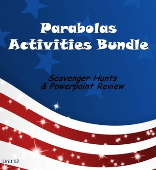 Alg 1 -- Parabolas:  Fun Reviews & Activities Bundle