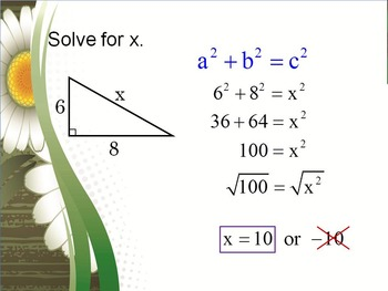 Alg 1 -- Pythagorean Theorem