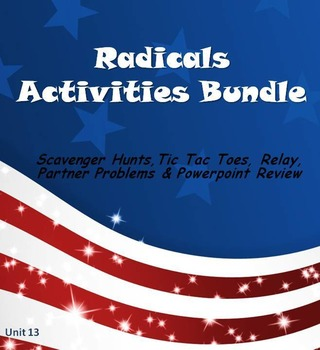 Alg 1 -- Radicals:  Fun Reviews & Activities Bundle