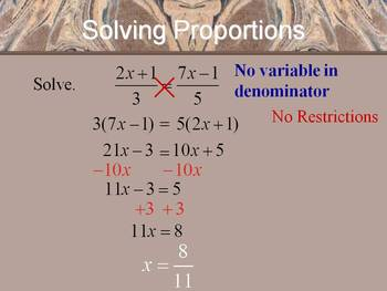 Alg 1 -- Rates & Proportions