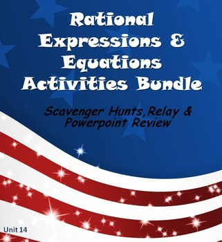 Alg 1 -- Rational Expressions & Equations:  Fun Reviews & Activities Bundle