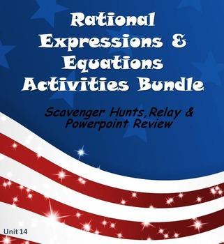 Alg 1 -- Rational Expressions & Equations:  Fun Reviews &