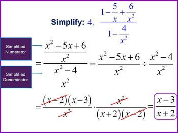 Alg 1 -- Simplifying Complex Fractions