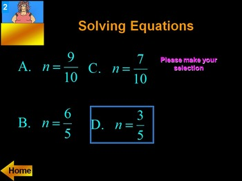 Alg 1 -- Solving Equations Review