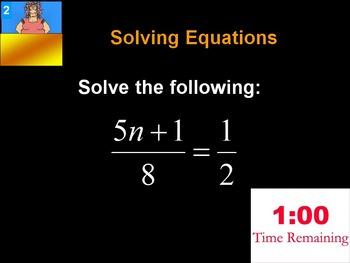 Alg 1 -- Solving Equations Review TP