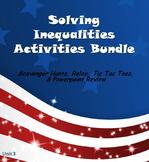 Alg 1 -- Solving Inequalities Fun Reviews & Activities Bundle