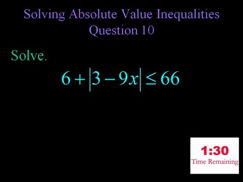 Alg 1 -- Solving Inequalities Review