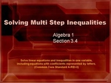 Alg 1 -- Solving Multi-Step Inequalities