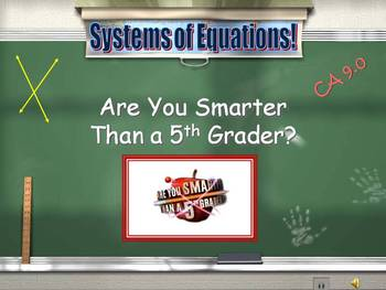 Alg 1 -- Solving Systems of Equations Review