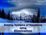 Alg 1 -- Solving Systems of Equations using Elimination