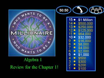 Alg 1 -- Tools of Algebra Review  (Millionaire Template)