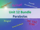 Alg 1 -- Unit 12: Graphing Quadratic Functions -- Lessons & Fun Reviews