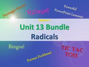 Alg 1 -- Unit 13: Radicals -- Lessons & Fun Reviews