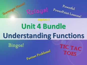 Alg 1 -- Unit 4: Understanding Functions Bundle -- Lessons