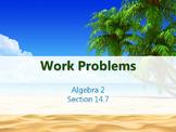Alg 1 -- Work Problems