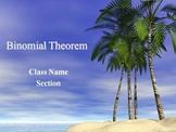Alg 2 -- Binomial Theorem