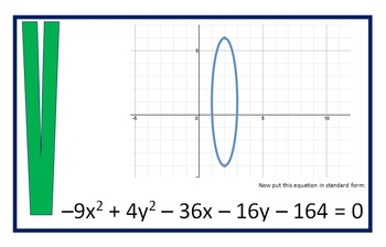 Alg 2 -- Conic Sections Scavenger Hunt (graphs)