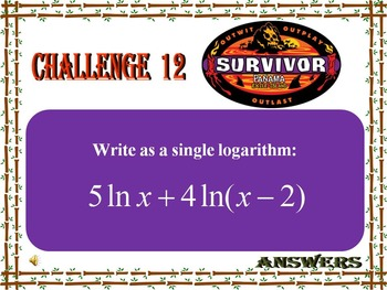 Alg 2 --  Exponential & Logarithmic Functions Review