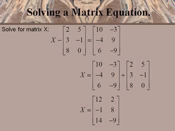 Alg 2 -- Matrix Operations