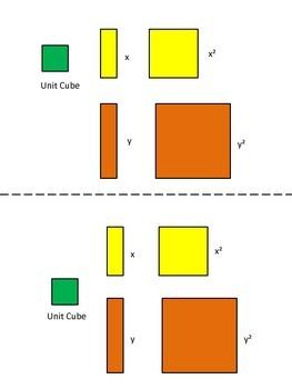 Algeblocks Key for Shapes