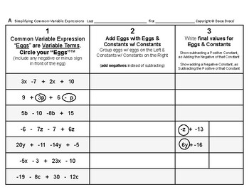 Algebra 01: Collect Like Terms & Simplify Algebraic Expressions