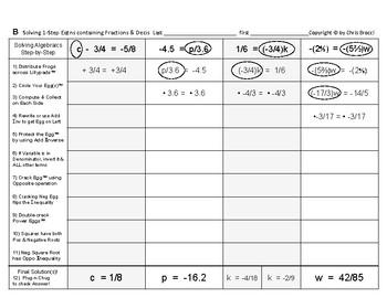 Algebra 06: Solving Single-Step Equations Containing Fractions & Decimals