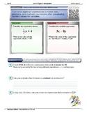 Algebra 1 (1.01): Create and Evaluate Algebraic Expressions