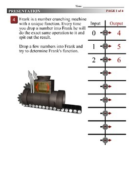 Algebra 1 (1.05) DRAFT: One-Step Function Machines