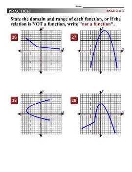Algebra 1 (1.09) DRAFT: Domain and Range