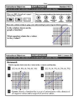 Algebra 1 (1.10) DRAFT: Ordered Pair Functions